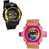 Shanti Enterprises Combo Princess 24 Images Projector Watch And Sports Watch Multi Color Dial For Kids - B0756ZPMXY