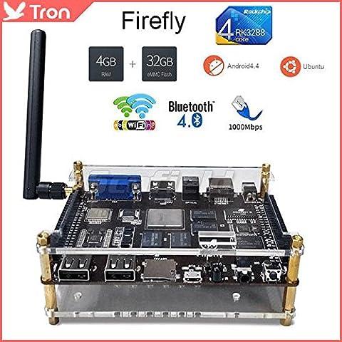 MU Firefly Desarrollo Junta RK3288 Quad Core 4G / 32G 2.4G / 5G dual WIFI HDMI 2.0 BlueTooth 1000M Android 4.4 y Ubuntu Sistema Dual