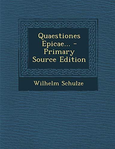 Quaestiones Epicae...
