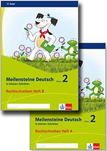2 Schritt Paket (Meilensteine Deutsch in kleinen Schritten 2. Rechtschreiben - Ausgabe ab 2017: Paket Heft A-B Klasse 2)