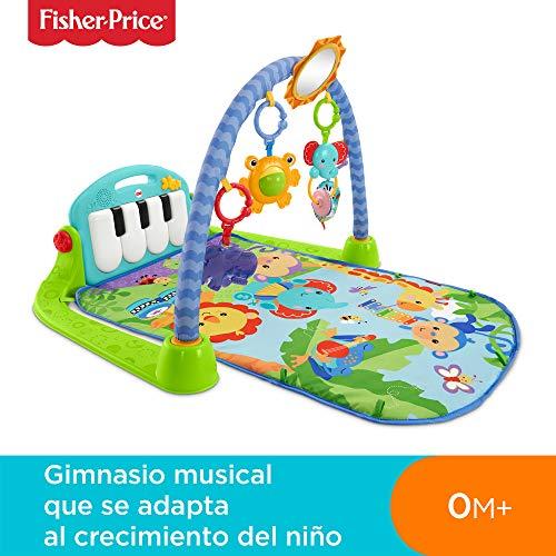 Imagen para Fisher-Price Gimnasio-piano pataditas, manta de juego para bebé (Mattel BMH49)