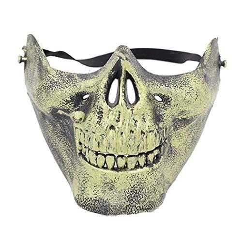 kerade Half Face Schädel Maske Party Festival Dekoration Schals ()