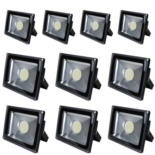 10X 20W 30W 50W 80W Lumière crue de LED blanc chaud Projecteur Lampe extérieure Lampe de jardin IP65 AC85V-265V(50W)
