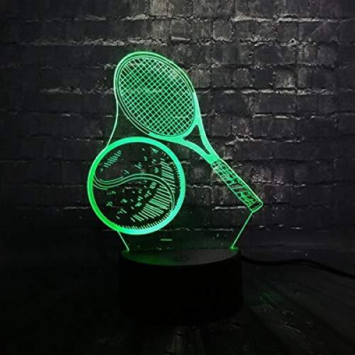 Sportliche 3D Serie Multicolor Led Nachtlicht Tennis Lampe Beach Volleyball Kinder Weihnachtsgeschenk Ein Tisch Dekor Licht Usb Basis 6 Schalter Ein 3 Farbe 6 Schalter Ein 3 Farbe Usb Jungen Empf