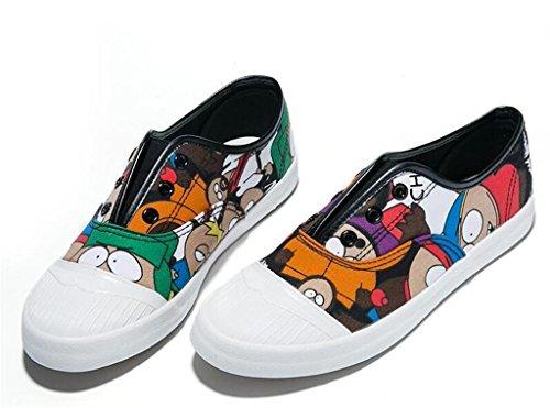 De Sapatos De Senhora Shfang Imprimir Fundo Plano Definido Lona Pé Estudantes Grafite Confortável Compras De Lazer Branco Diária
