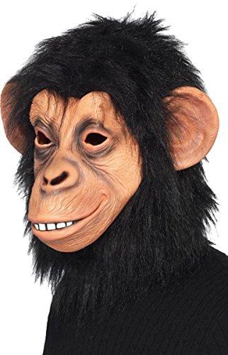 Adulti Natale Partito Animale Travestimento Scimmia/Pig/Renna/cervo Maschera in lattice Chimp Mask Etichettalia unica