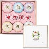 Badebomben Geschenk set 6x4.2oz+4 Rosen Seife Ätherischen Handgemachte Natürliche Badekugeln mit