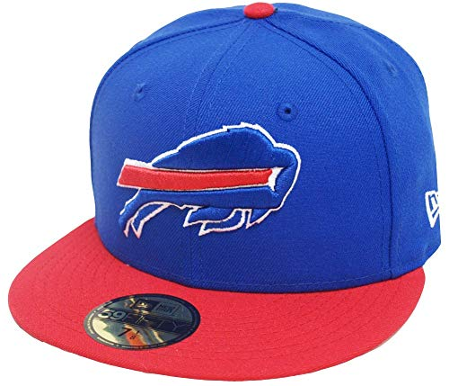 New Era Buffalo Bills Royal Red 2 Tone On Field NFL Cap 59fifty 5950 Fitted Limited Edition Two Tone Fitted Cap