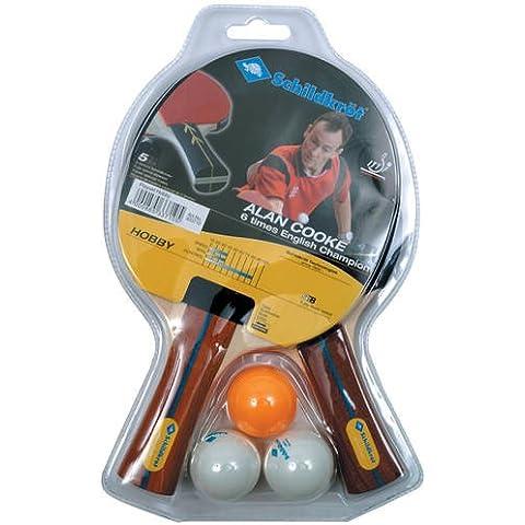 Schildkrot Alan Cooke due Lettore Ping Pong Hobby Starter (2 Spugna Palle)