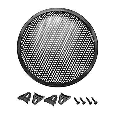 "sourcing map 8"" Speaker Waffle Grill Metal Mesh Audio Subwoofer Guard Protector Cover with Clips,Screws by sourcing map"