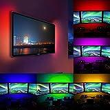 Minshao 50-200 CM USB LED Streifen Licht TV Zurück Lampe 5050RGB Farbwechsel + Fernbedienung (200CM)