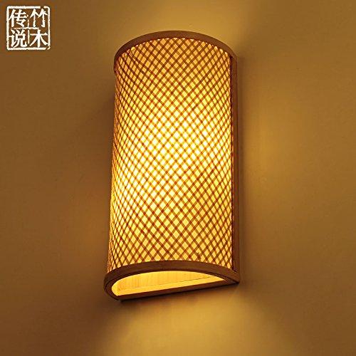 BESPD Neue chinesische Manuelle kreative Südostasiatischen Wandleuchten Korridor Gang Wohnzimmer Schlafzimmer Bett Lampen 24 cm * 40 cm Natural Finish -