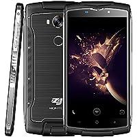 HOMTOM ZOJI Z7 4G Android Smartphone LTE IP68 Wasserdichte Outdoor-Handy Quad Core 1.3GHz 2GB + 16GB Doppelte-Kameras Fingerabdruck (Schwarz)