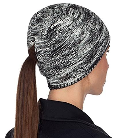 TrailHeads Women's Space Dye Knit Ponytail Beanie - black &