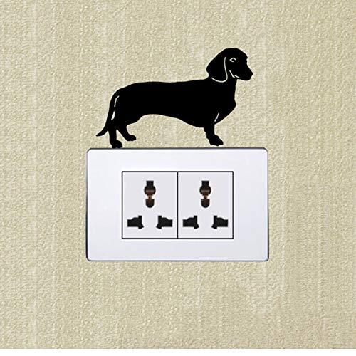 FUZILV Adhesivo de Pared 3 piezasAdhesivo de Pared: Pegatina interruptorDachshund Dog Estilo...