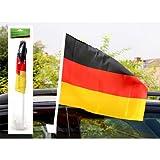 """EM 2012 Fanartikel Autofahne Deutschland 20x30 cm """"Wir sehen uns"""