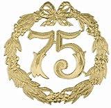 Jubiläums-Zahl 24Cmd 75 Gold 1234
