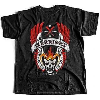 9034 The Warriors Mens T-Shirt Furies Turnbull AC's Rogues Punks Riffs Orphans Lizzies ACS Gang Street Mob(Large,Black)