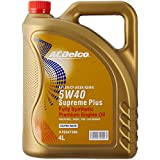 ACDelco A19347399 Supreme Plus Fully Synthetic 5W-40 SN/CF (ACEA A3/B4) Engine Oil (4 L)