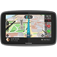 GPS TomTom GO6200, 6pouces, avec appels mains-libres, Siri et Google Now, mises à jour via Wi-Fi, Traffic à vie via une carte SIM, cartes du monde à vie, messages smartphone, écran capacitif