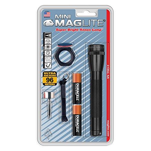 MagLite Mag-Lite Mini M2A01C, Aluminium, schwarz, 2.55 x 2.55 x 14.65 cm (Maglite Led-taschenlampe-halter)