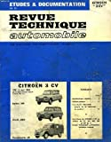 Image de Revue technique automobile : Citroen 3 CV, de 1961 à 1968, berline, break et fourgonnette AK