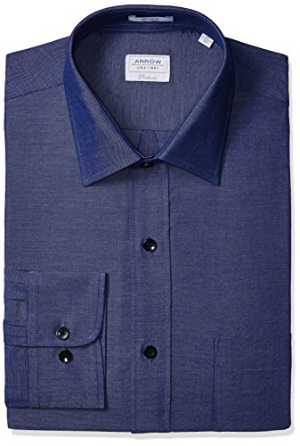 Arrow Men's Formal Shirt (8907538526090_ASTF0350_46FS_Navy)