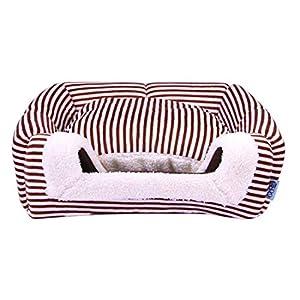 Pinji Niche Chat Chien Pliable Intérieur et Extérieur Portable Tente Maison Canapé Lit pour Animaux Domestiques Coussin Dehoussable Lavable