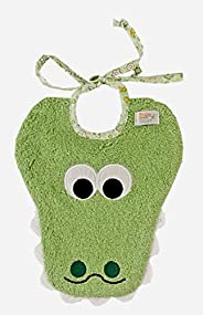Zigozago - Bavaglino COCCODRILLO in puro cotone - Colore: verde - Taglia: Unica