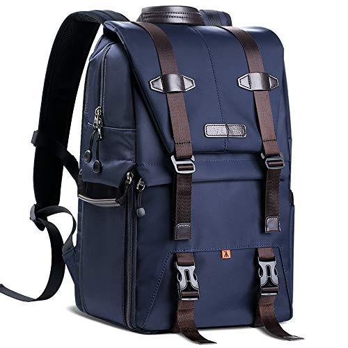 Zaino Fotografico K&F Concept Reflex Zaino per Fotocamera DSLR Macchina Fotografica Grande Viaggio Impermeabile Multifunzionale per 15,6' Laptop