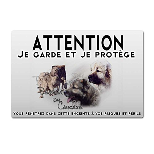 Pets-easy Panneau Attention au Chien Berger du caucase