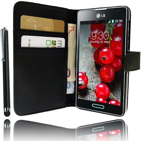 Etui Housse Luxe Portefeuille pour LG Optimus L3 II E430 serie 2 + STYLET et 3 FILM OFFERT !