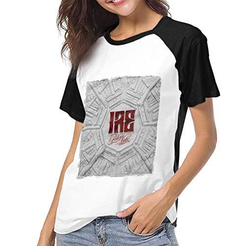Bagew Damen T-Shirt Mit Rundhalsausschnitt, Parkway Drive Ire Womens Short Sleeve Raglan Baseball T Shirts Black