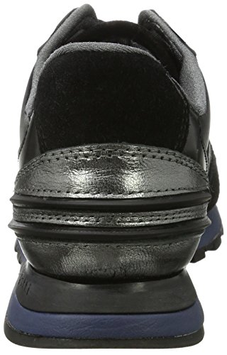 Bugatti - 422285011419, Pantofole Donna Schwarz (Black / Silver)