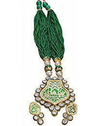 Traditional & Royal Thewa Jewellery Kundan & Golden Plated Necklaces Jewellery