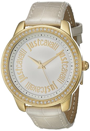 Just Cavalli R7251196503 Stainless Steel Case White Calfskin Mineral Men's & Women's Watch