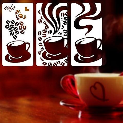 Autocollant de fenêtre de cuvette de café/Épicerie,stickers muraux café/verre,autocollants pour fenêtres fenêtre décoratifs-A