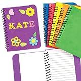 Quaderno in gommapiuma da decorare per bambini (confezione da 6)