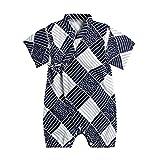 Baby Newborn Romper Japanese Kimono Robe Bodysuit Girls Boys Flower Printed Cotton Short Sleeve Jumpsuits Sleepwear