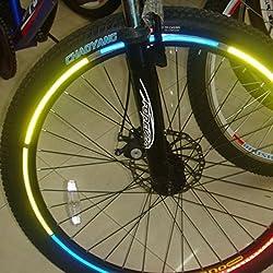 Inovey 10 X Bicicleta De La Bici Que Reflejan Material Rueda Llanta Pegatinas Calcomanías