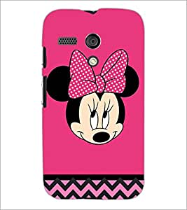 PrintDhaba Minnie Mouse D-2324 Back Case Cover for MOTOROLA MOTO G (Multi-Coloured)