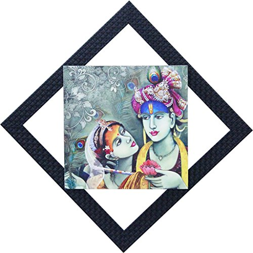 CraftJunction Lord Radha Krishna Matt Textured UV Wall Hanging Showpiece(16*16 Inches)  available at amazon for Rs.349
