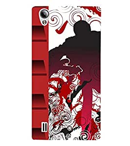 Takkloo Red border music based pattern,classy pattern, beautiful pattern) Printed Designer Back Case Cover for Vivo Y15S :: Vivo Y15