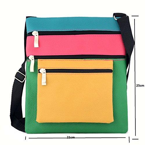 Glamexx24 Borsa a tracolla borsa a spalla o per mano in diversi motivi e colori LilaVerdeBlu