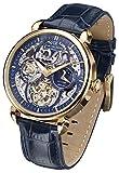 Carl von Zeyten Herren Analog Automatik Uhr mit Leder socken CVZ0005GBL