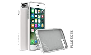 RhinoShield Case FOR IPHONE 8 Plus/IPHONE 7 Plus [PlayProof] | Heavy Duty Shock Absorbent [High Durability] Scratch Resistant. Ultra Thin. 11ft Drop Protection Rugged Cover - White