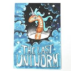 Unicorn Uniworm Einhorn Wurm Postkarte Für Gärtner Fantasy Fans Angler