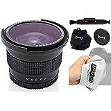 Opteka .338X HD Super AF Fisheye lentille grand angle avec macro et chiffon de nettoyage en microfibre pour Pentax K-S2, K-S1, K-1, K-500, K-70, K-50, K-30, K5IIs, K-7, K-5, K-3, K-2, K20D, K100D, K110D appareils photo reflex numériques