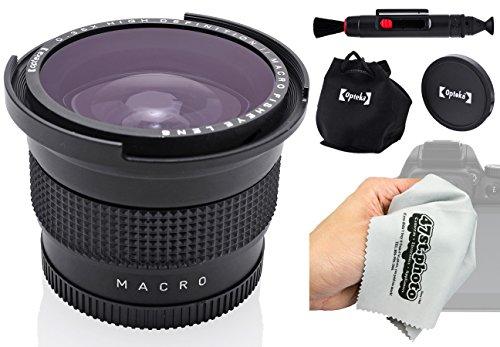 Opteka Weitwinkel-Fisheye-Objektiv, 0,35x, mit Makro- und Mikrofaser-Reinigungstuch für Sony Alpha A99, A77, A68, A65, A58, A57, A55, A37, A35, A33, A900, A700, A580, A560, A550, A390Digital SLR Kameras