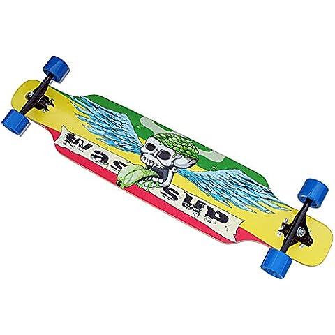 Longboard 40inch Skateboard Canadian Maple Comic grafica a partire da 8anni > 100Kg <
